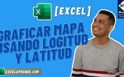 [Excel] Graficar mapa usando longitud y latitud | ExcelAprende