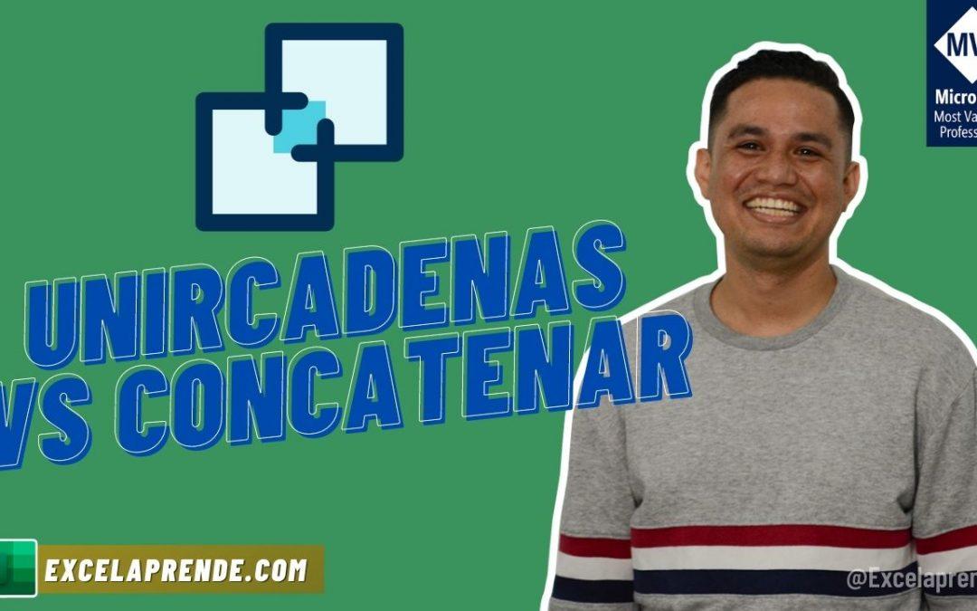 Unircadenas VS Concatenar | ExcelAprende